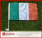 Ireland-tri-colour car window clip flag/Auto flag/national car flag
