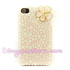 Pink Flower jewel phone case for iphone 5