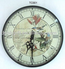 Plastic craft wall clock,art wall clock,cheap plastic wall clocks