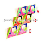 Triangle egytian tone earring studs,funky color, ER-581