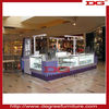Nice jewelry shopping mall showcase kiosk with light
