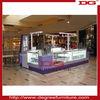 Nice jewelry shopping mall showcase kiosk with light