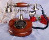 antique solid wood telephone set