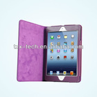 protective folio stand pu leather case for ipad mini