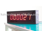 2.3 inch 6 digit LED wall mounted digital counter