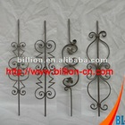 china factory custom stair wrought iron railing parts design