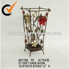 antique floral metal umbrella stand