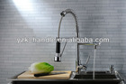 S3848G Wholesale brass single lever pull out kitchen mixer with revolvable spout for sink