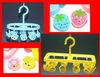 plastic children's hanger with cartoon design clip