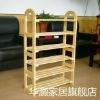 wooden shelf goods shelf shoe shelf