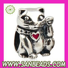 925 Sterling Silver Chinese Lucky Cat Beads Wholesale