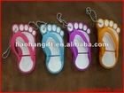 Silicone&pvc Feet Shape Usb flash driver of keychain
