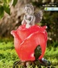 polyresin angel and rose design solar decoration
