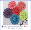 mixed colors genuine leather flower shoes clip
