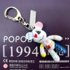 advertising 2 inch PVC bear doll key chains