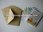 Classical &fishion greeting cards with ribbed kraft envelopes