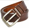 Men fashion genuine leather belt brown