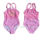 hot sell! 2012 lovely girls swimsuit pink princess swimsuits