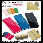 100000pcs sold out!! First-class patent leather card holder Leather wallet EMG8127