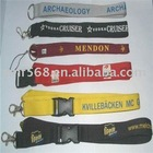 polyester lanyard string with plastic buckle,metal hook