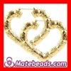 Heart Shape Bamboo Earrings Jewelry BW6015