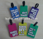 2012 hot selling PVC luggage tag for travel or promotion