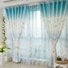 Fashion design Polyester/cotton fancy woven jacquard blue Curtains