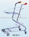 metal supermarket shopping trolley