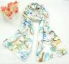 Ladies' Spring new printed Long Silk scarf