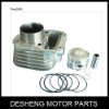 Motorcycle cylinder kit including piston and piston ring and shaw