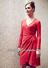 Women's Michelle Red Wrap Dress 3393