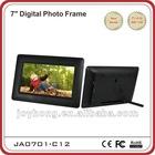 Plastic design 7 inch digital photo frame
