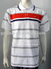men's S/S placed engineering stripe polo shirt