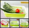 two-double plastic fruit and vegetable basket