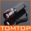 Zoomable 3 Mode CREE LED Flashlight Torch 200 Lumen AAA