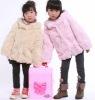 YR-481A Genuine girl's rabbit fur hoodie Children's fur jacket