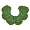 green knitting cotton collar