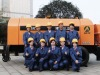 Trailer mounted concrete pumps with diesel engine