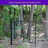 Black vinyl coated tree protection chain link fence