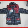 kids boys pourpoint winter jacket with fur wool cotton-padded clothes