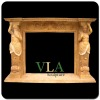 Natural Hand Carved Yellow Ethanol Fireplace VFM-AN023E