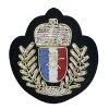 Sew-on handmade lace badge