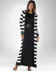 striped casual maxi/organic acrylic cotton/long sleeve/open front/dress/plus size sweater
