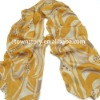 2012 Ladies Spring Printed Imitate Silk Scarf with Pendant