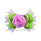 pink ribbon rose bows