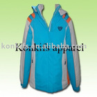 ladies' long winter jacket, custom logo