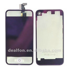 Purple Clear Plating Replacement Digitizer Front LCD Digitizer Back Housing Assembly For iPhone 4S 4GS