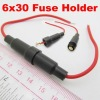 6x30mm AGC Fuse Holder In-line screw type with wire