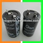 330WV 330UF 25*40mm Aluminum Electrolytic Capacitor For Photo Studio Flash Light