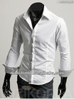 Fashionable style High quality Slim fit shirt for men with peaked collar and S, M L XL XXL